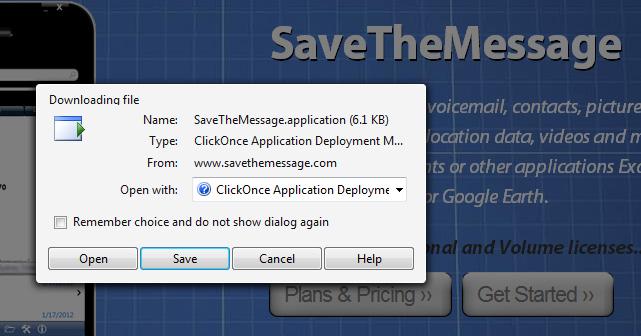 A Safari Screen.